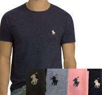 Men Ralph Lauren Polo Crew Neck Custom Slim Fit T-Shirt: 4-Colors & S-M-L-XL-2XL