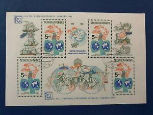 Czechoslovakia 1984 110th Anniv of Universal Postal Union. mini sheet  CTO