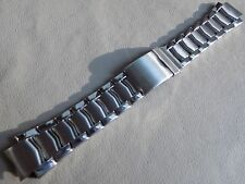 New Mens Timex Stainless Steel 17mm Buckle Clasp Watch Band Security Deployment