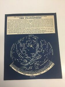 rare  original 1920's childrens encyclopedia (arthur mee) toy the planisphere
