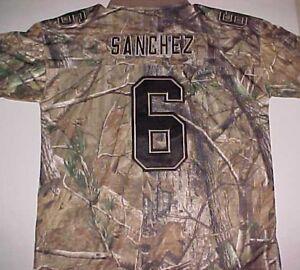 New York Jets Mark Sanchez 6 NFL AFC Reebok Brown Black Camouflage Jersey L New