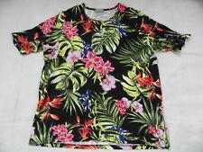 ULLA POPKEN Selction schönes Shirt Blumenmuster Gr. 46/48 TOP RAL419