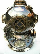 DIVING DIVER HELMET ANTIQUE SOLID COPPER OLD NAUTICAL DIVING SCUBA VINTAGE SEA