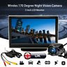 170° Wireless Reverse Night Vision Camera + 5'' LCD Monitor Screen Car Rear View