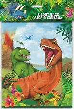 Unique Party 58303 - Dinosaur Party Bags, Pack of 8