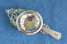 Vintage 1936 King George VI Commemorative Art Deco Sterling Silver Tea Strainer