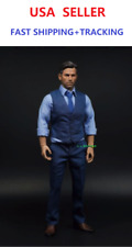 CUSTOM 1/6 Batman Bruce Wayne Ben Affleck in BLUE suit FULL set
