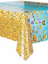 Emoji Plastic table cover (2.13m x 1.37m) for a party