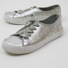 Bebe Dane Silver lace up sneaker women size 7