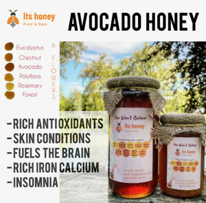 Honey Pure & Raw Unpasteurized Anti Inflammatory Hay fever Cough Colds Gluten