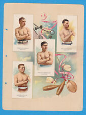 1887 A17 Allen & Ginter World's Champions ser. 2 album page Boxing w/ MURPHY, DU