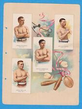 1887 A17 Allen & Ginter World's Champions ser. 2 album page Boxing w/ MURPHY, DU