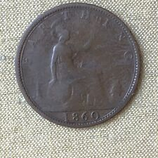 Great Britain Farthing, 1860 Victoria DG Britt Reg FD Foreign Coin
