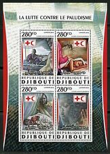 DJIBOUTI  2016 BATTLE AGAINST MALARIA RED CROSS CRESCENT SHEET MINT NH