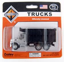 HO Scale International 3-Axle Dump Truck - Silver & Black - Boley #4511-63 *MIP*