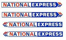 MODEL BUS WATERSLIDE TRANSFERS 1/76th NATIONAL EXPRESS SIDE FLEETNAMES  2 PAIRS