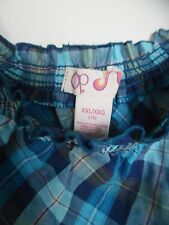 OP Jrs. Blue Plaid Elastic Hen & Shoulders 100% Cotton Tank  Sz XXL 19