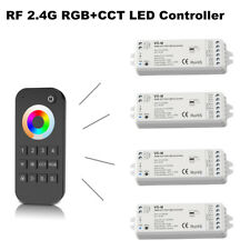 2.4G Wireless RGB+CCT Led Strip Controller Dimmable 12-24V with RF 4-zone Remote