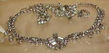 Vintage Rhinestone Necklace Demi Parure Chevron Juliana