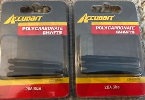 NEW Lot of 2 Accudart Polycarbonate Shafts (3 /pack) For Darts 2BA Size Freeship