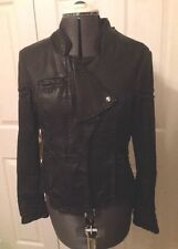 TopShop Women's Leather Waist Length Casual Coats & Jackets