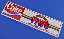 Grande Coca Cola Adesivo USA 1981 Adesivo Decalcomania Noi Radio Join The Party