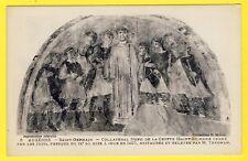 cpa 89 - AUXERRE (Yonne) ABBAYE St-Germain FRESQUE de la CRYPTE Judaica Judaïsme