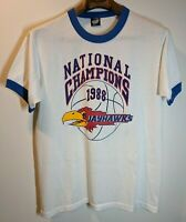 VTG 1988 Kansas Jayhawks National Champions Tee Shirt Size Large Single Stitch