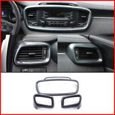 For Kia Sorento 2015-18 Carbon Fiber Dashboard Air Vent Outlet Frame Trim Cover