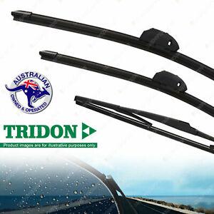 Tridon Front+Rear Windscreen Wiper Blades for Nissan Patrol GQ GU