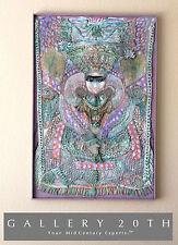 Wow! Mid Century Goddess Ammavaru Wandkunst! Malerei Hindu Mosaik Modern 60er