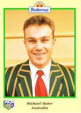 BUTTERCUP 1995 MICHAEL SLATER CARD Portrait AUSTRALIA ACB Australian Cricket