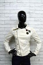 Giacca Donna DIESEL Taglia Size S Jacket Woman Blazer Cotone Bianco Giubbino