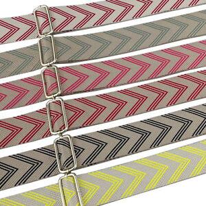 DIY Replacement Arrow Canvas Woven Bag Strap Adjustable Cross Body Handbag Purse