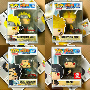 Funko Pop Naruto Shippuden : #185 186 455 Sage Mode/Six Path/Curse Mark/Itachi