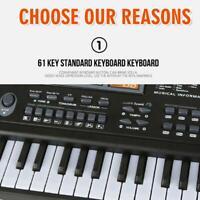 61 Tasten LED Digital E-Piano Musik E-Keyboard Orgel Mikrofon ABS