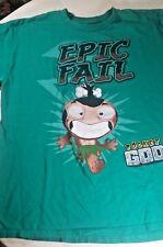 Pocket God Epic Fail Mens Green Graphic T-Shirt Size Large