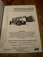 Gradall G9 43a Forklift Lift Truck Material Handler Operator Maintenance Manual