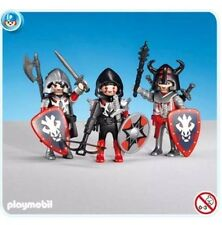 PLAYMOBIL 7975 - 3 Red Dragon Knights. New
