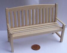 Échelle 1:12 finition naturelle banc en bois Maison de Poupées Mobilier De Jardin Accessoire 44