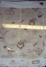 1 Raffrollo Faltrollo Paris Engel Ösen Haken transparent weiß rosa B/H 80x140