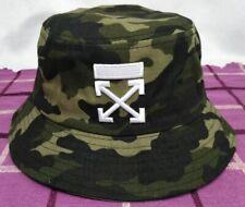 New OFF WHITE Men Women's Bucket Hat Beach Cap One Size Camo