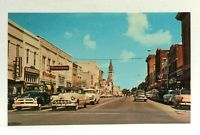 Valdosta Georgia Downtown Patterson Street Old Cars Postcard