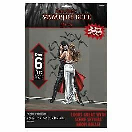 6FT VAMPIRE BITE SCENE ROOM PICTURES POSTER BANNERS HALLOWEEN PARTY DECORATIONS
