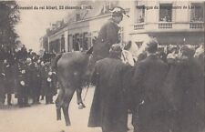 FOREIGN ROYALTY : 1909 BELGIUM-Accession of KIng Albert -Bougermeister of Lacken