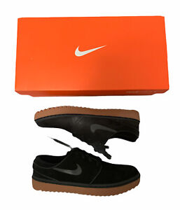 Nike Janoski G Golf Shoes Clearness Black Suede Gum AT4967-003 Men's Size 8