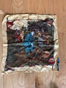 "POLO RALPH LAUREN POLO GOLF Pocket Square Handkerchief, 100% Silk, ITALY 16""Squ."