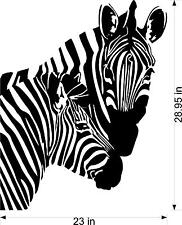 Zebra and Baby  Vinyl wall decal