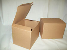 Lot of 10 6x4.5x4.5 Gift Retail Shipping Packaging boxes Kraft light cardboard