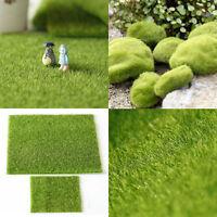 Dolls House Garden DIY Green Lawn Grass Carpet Dollhouse Moss for Miniature